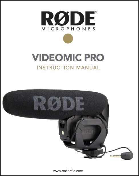 Manual Microfono Videomic Pro Rode Its Free Nadjar Rental